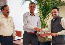 Representatives of IIM Jammu and Talentedge during signing of MoU.