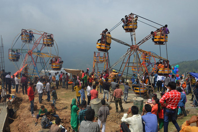 A view of Sankri Mela in Panchari area of Udhampur on Thursday.