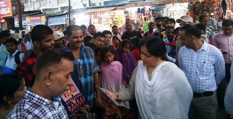 Deputy Commissioner Reasi, Indu Kanwal Chib interacting with people on Friday.