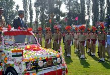 DC Anantnag during Independence Day parade.