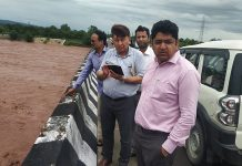 DC Kathua Raghav Langer durinv visit to flood-prone areas on Saturday.