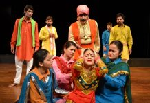 A scene from Dogri play 'Ghumayee'.