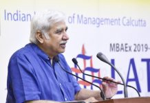 "Chief Election Commissioner, Sunil Arora addressing the Students of Indian Institute of Management Calcutta on their Annual Day Lattice on the theme ""Conducting 17th Lok Sabha Elections: Desh Ka Maha Tyohar"", in Kolkata on Sunday."