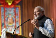 Prime Minister Narendra Modi addressing at the Royal University of Bhutan, in Bhutan on Sunday. (UNI)