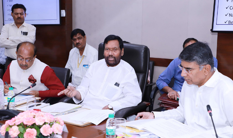 Union Minister for Consumer Affairs, Food and Public Distribution, Ram Vilas Paswan briefing the media about the Rules and Regulations being formulated under the Consumer Protection Act, 2019, in New Delhi on Tuesday.