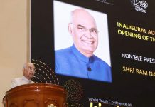 President, Ram Nath Kovind addressing at the inauguration of the first World Youth Conference on Kindness, in New Delhi on Friday.