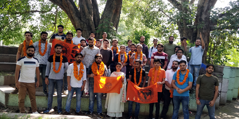 Newly elected office bearers of JU unit of ABVP.