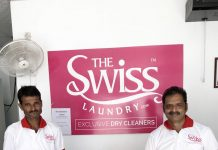 Representatives of Swiss Laundry while launching dry cleaning service in Jammu.
