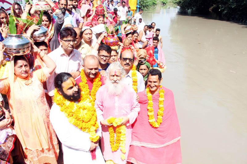Kalash Yatra being taken out during 49th Shat Chandi Mahayaga.