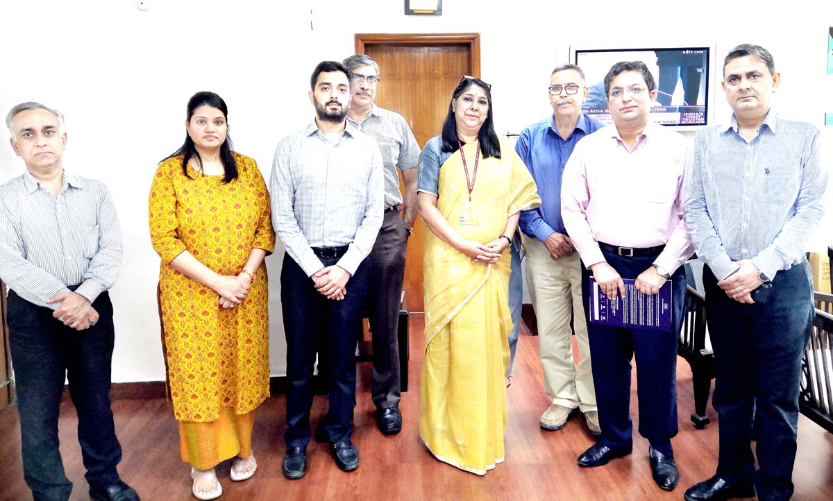 CII J&K delegation during meeting with Reema Prakash, Joint Secretary, MoFPI in Delhi.