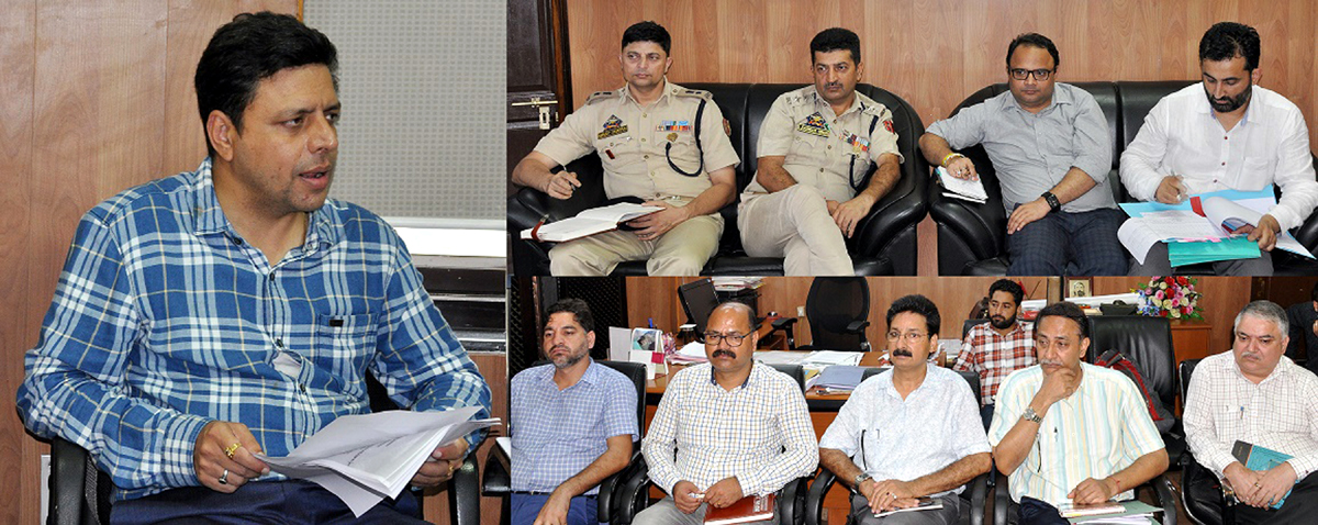 Div Com Sanjeev Verma chairing a meeting on Friday.