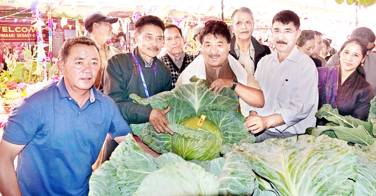 CEC Leh inspecting vegetable stalls at an Expo.