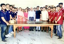 Prof Geetanjali A Rana, Dean Faculty of Arts, Prof PK Sharma, Principal, Government MAM College and others inaugurating Chess Tourney at Jammu on Tuesday.