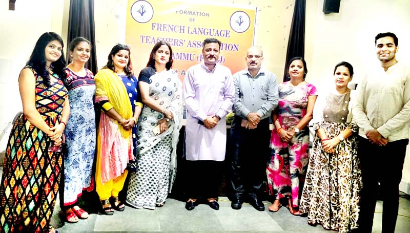 Members of French Language Teachers Association with Team Jammu chairman.