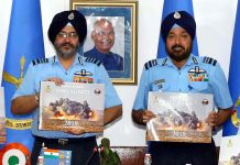 "Air Chief Marshal Birender Singh Dhanoa PVSM AVSM YSM VM ADC, Chairman Chiefs of Staff Committee and Chief of the Air Staff released the Coffee Table Book ""Vayu Shakti – 2019"" along with Air Marshal HS Arora AVSM ADC, Air Officer Commanding-in-Chief, South Western Air Command at Air HQ (Vayu Bhavan), New Delhi."