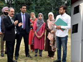 Justice Ali Mohammad Magray during visit to Juvenile Observation Home in Srinagar on Saturday.