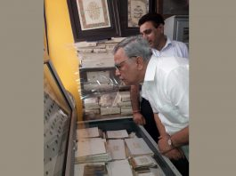 Farooq Khan, Advisor to Governor, at Shashvat Art Gallery and Museum in Jammu.