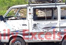 Northern Command chief Lt Gen Ranbir Singh inter-acts with troops on LoC, a Maruti van hit by bullets in Mendhar and a Pak army post in flames across LoC in PoK on Saturday.