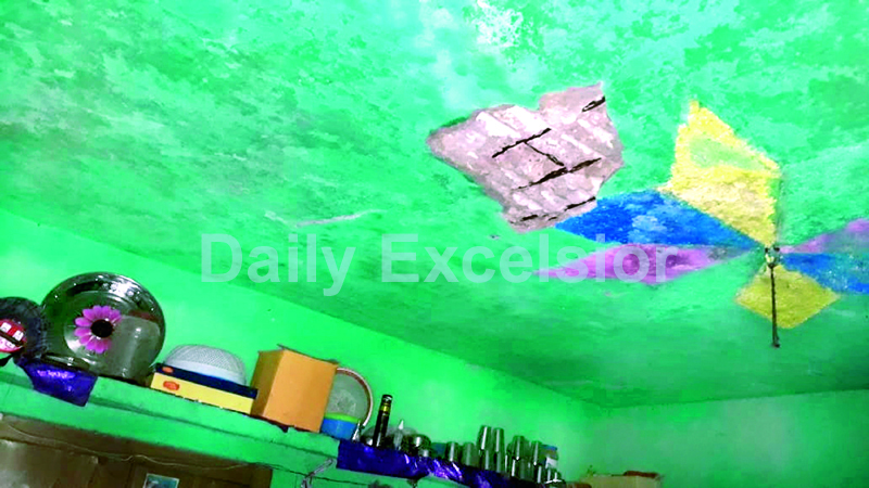 A house damaged in mortar shelling by Pakistan army in Mendhar. -Excelsior/Rahi Kapoor