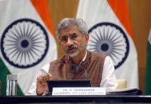 External Affairs Minister Subrahmanyam Jaishankar addressing a press conference in New Delhi on Tuesday.(UNI)