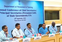 Union Minister Dr Jitendra Singh addressing annual conference of Chief Secretaries/Principal Secretaries in New Delhi on Wednesday.