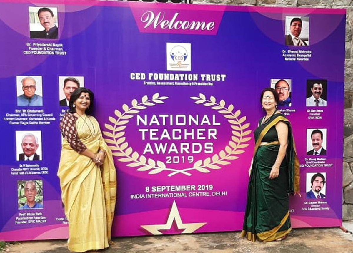 APS Jammu teachers, who were presenetd CED National Teachers' Award.