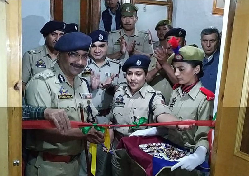 DGP Dilbagh Singh along with other officers inaugurating dining hall in DPL Leh.