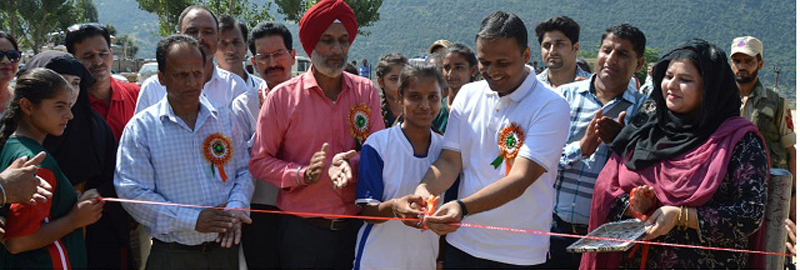 Inter-District Kho-Kho Tournament being inaugurated by DDC Aat GHSS Ghat in Doda