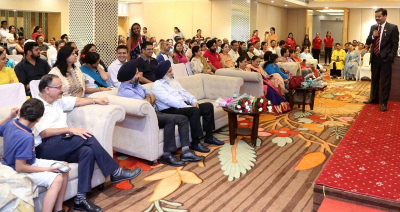 Dr S K Rathor, MD Sanfort Group of Schools expressing his views during workshop.