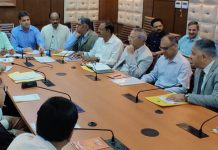 MHRD Joint Secretary chairing a meeting at Srinagar on Friday.