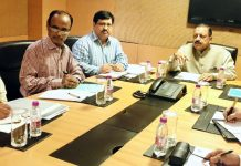 Union Minister Dr Jitendra Singh convening a meeting of senior scientists of Nuclear/Atomic Energy at Mumbai.