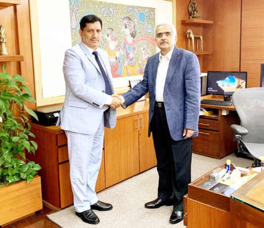 J&K Bank Chairman R K Chhibber meeting RBI Governor at Mumbai.