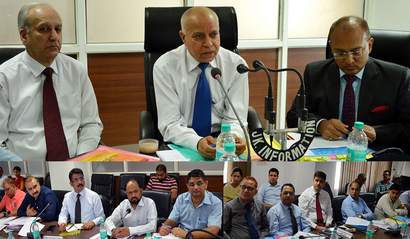 Chief Vigilance Commissioner P L Gupta chairing a meeting on Wednesday.