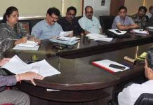 Divisional Commissioner Jammu Sanjeev Verma chairing a meeting on Wednesday.