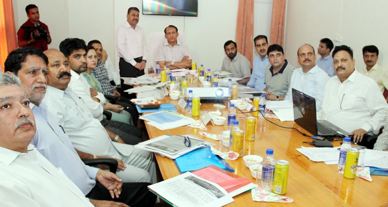 DGP Prisons, VK Singh, chairing a conference of Jail Superintendents in Jammu.