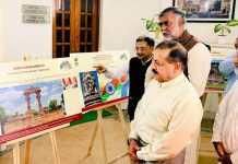 Union Minister in PMO, Dr Jitendra Singh inaugurating photo exhibition in New Delhi.