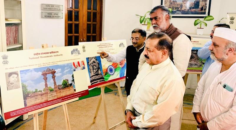 Union Minister in PMO, Dr Jitendra Singh inaugurating photo exhibition in New Delhi.