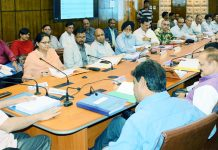 Chief Secretary BVR Subrahmanyam chairing Forest Advisory Committee meeting on Thursday.