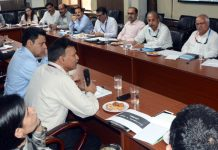 Union Joint Secretary MSME chairing a meeting on Friday.
