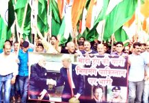 DFSS workers taking out Tiranga Rally in Jammu City.