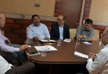 Advisor K K Sharma chairing a meeting on Thursday.