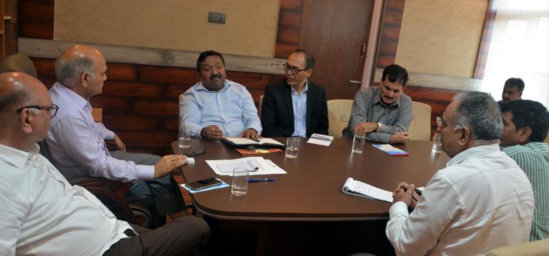 Advisor K K Sharma chairing a meeting on Thursday.
