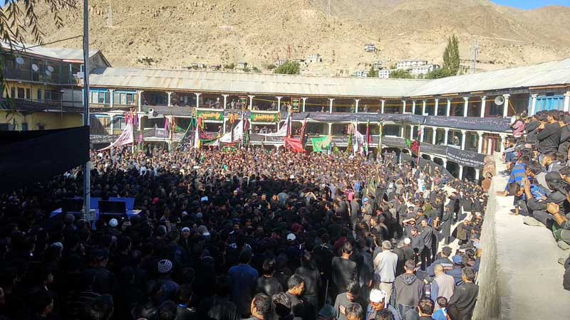 Muharram procession being taken out in Kargil on Tuesday.