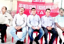USTA members during one-day convention at Kathua on Sunday.