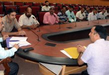 Advisor K Skandan interacting with a delegation on Friday.