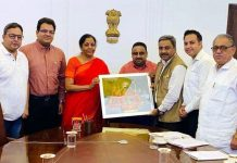 A delegation of CAIT and CTF members presenting memorandum to Union Finance Minister, Nirmala Sitharaman in Delhi on Tuesday.