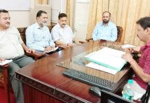 MD SC, ST & BC corporation, Dr Bharat Bhushan and other officials of the Corporation clearing loan cases of unemployed youth in Jammu on Saturday.
