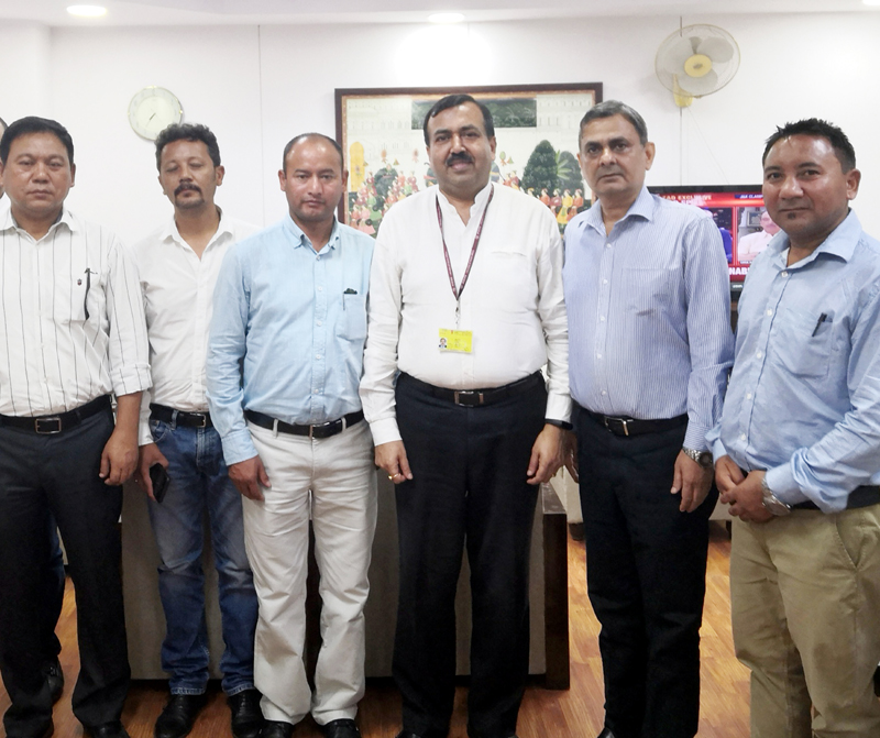 CII J&K delegation at a meeting with Union Addl Secy, Ministry of Commerce Sudhanshu Pandey in Delhi.