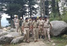 DGP Dilbag Singh accompanied by senior police officers during visit to Reasi.