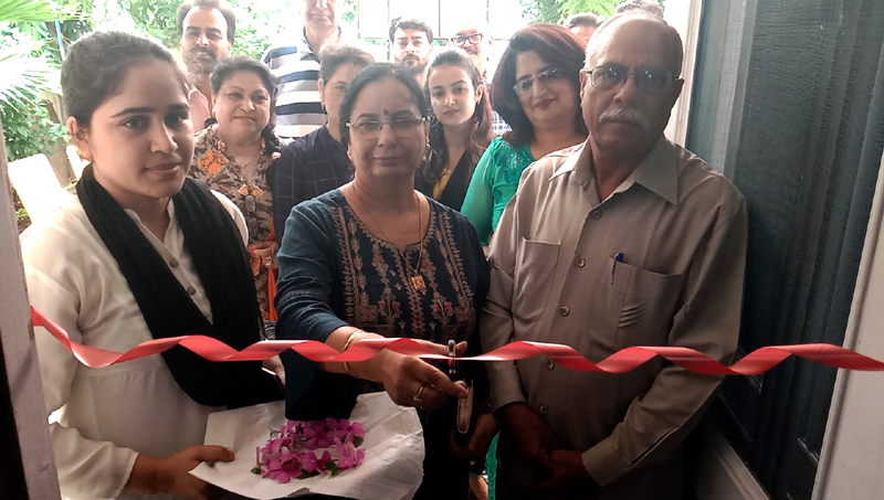 The centre of 'Courses Counselors and Career' being inaugurated at Trikuta Nagar in Jammu.